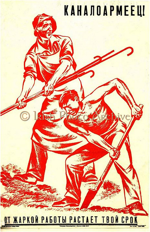 Building the White canal a russian 1930 Poster