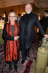 COLIN McDOWELL and BRENDA POLAN at the WGSN Global Fashion Awards 2015 held at The Park Lane Hotel, Piccadilly, London on 14th May 2015.