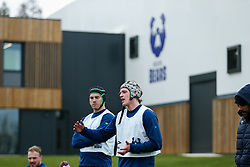Fitz Harding and Jake Heenan of Bristol Bears in action during a training session - Rogan/JMP - 04/03/2021 - RUGBY UNION - Bristol Bears High Performance Centre - Bristol, England.