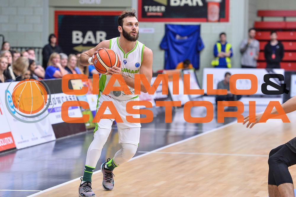 Stefano Gentile<br /> Leicester Riders BC - Banco di Sardegna Dinamo Sassari<br /> Fiba Europe Cup Gruppo H 2018-2019<br /> Leicester, 17/10/2018<br /> Foto L.Canu / Ciamillo-Castoria