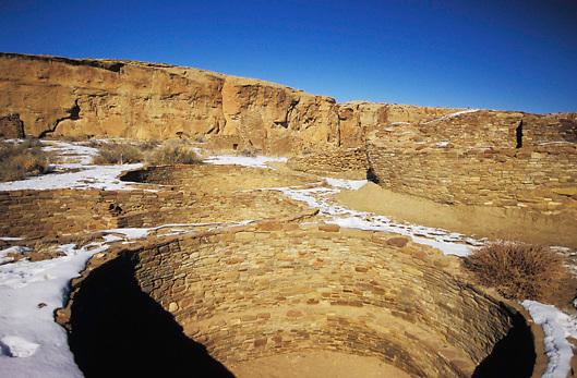 Anasazi ruins in Chaco Canyon National Historic Park, Utah, USA