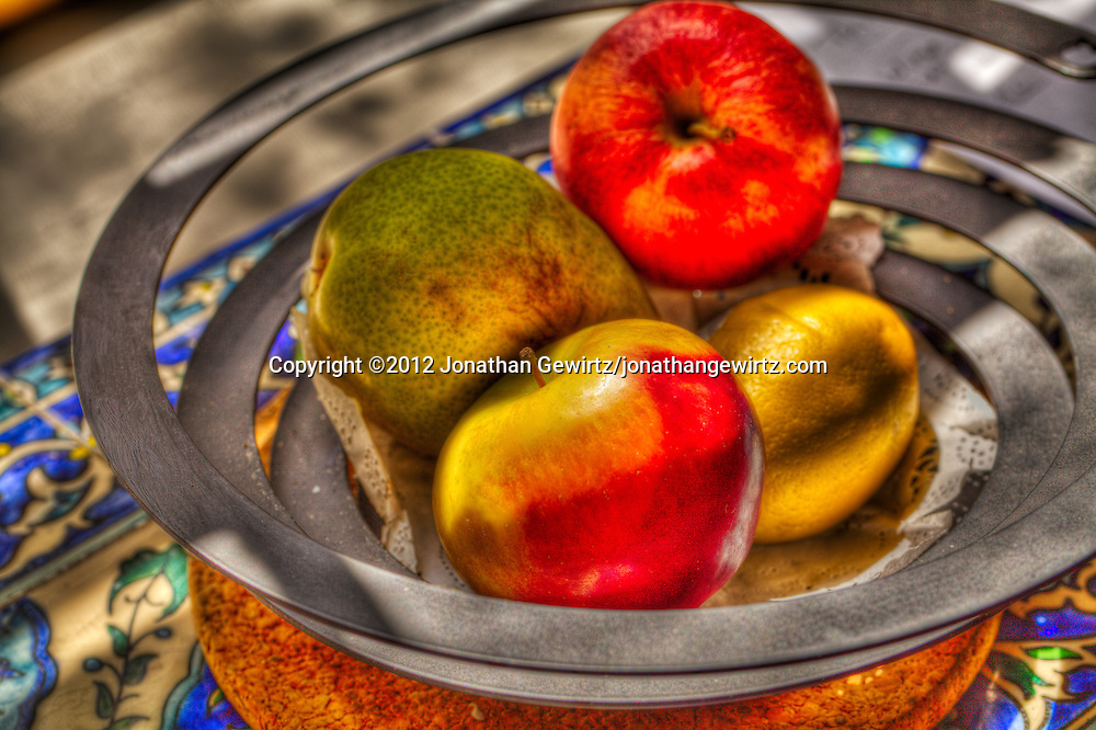 A bowl of fruit photographed using HDR techniques. WATERMARKS WILL NOT APPEAR ON PRINTS OR LICENSED IMAGES.