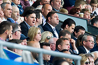 Football - 2016 / 2017 Premier League - Swansea City vs. West Bromwich Albion<br /> <br />  Swansea City 's US owners Stephen Kaplan & Jason Levien , top, & Welsh owners Huw Jenkins & Martin Morgan watch from the stands <br /> <br /> COLORSPORT/WINSTON BYNORTH