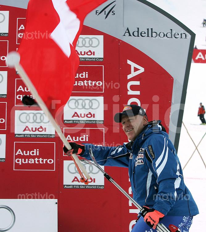Ski Alpin; Saison 2006/2007  41. Weltcup Riesenslalom Herren Didier Cuche (SUI) mit SUI Fahne
