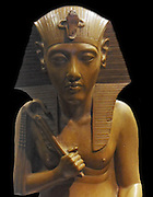 Fragment of a royal group of The Amarna Period;The latter half of the Eighteenth Dynasty  was marked by the reign of Amenhotep IV, who changed his name to Akhenaten (1353–1336 BC) in order to reflect the dramatic change of Egypt's polytheistic religion into one where a sun-god Aten was solely worshipped