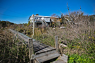 Raised home on Isle de Jean Charles.  The Isle de Jean Charles is losing land at a quick pace.