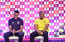 South Africa: Johannesburg: Orlando Pirates captain Happy Jele and Kaizer Chiefs Captain Itumeleng Khune speaks during a press conference at the PLS officers in Parktown, on the much anticipated Soweto Derby on Saturday when Orlando Pirates host rivals Kaizer Chiefs for Absa Premiership match at FNB Stadium.<br />Picture: Itumeleng English/African News Agency (ANA)<br />973<br />24.10.2018<br />Picture: Itumeleng English/African News Agency (ANA)