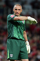 Arsenal FC vs West Bromwich Albion FC Carling Cup 3rd Rd 22/09/09<br /> Photo Nicky Hayes Fotosports International<br /> WBA keeper Dean Kieley in despair.