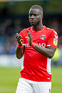 Charlton Athletic defender Naby Sarr (23) after  the EFL Sky Bet League 1 match between Gillingham and Charlton Athletic at the MEMS Priestfield Stadium, Gillingham, England on 27 April 2019.