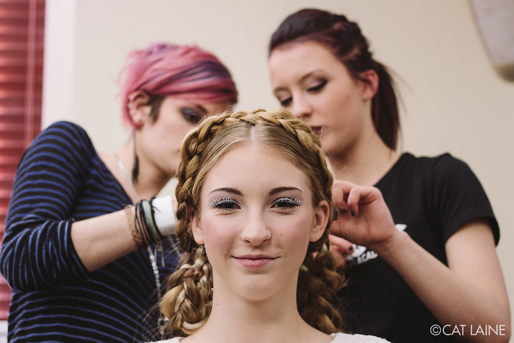 PROVIDENCE, RI - FEB 13: Savannah Reinitzer backstage prior to the Jess Abernethy show as part of StyleWeek NorthEast on February 13, 2015 in Providence, Rhode Island. (Photo by Cat Laine)