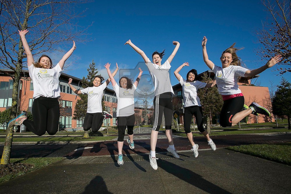 Repro Free: 18/02/2014<br /> Unilever staff Maisie-Rose Byrne, Eimear Carroll, Emma Meegan, Kathryn Dodd, Teresa Braden-Horst and Emma Priestman are pictured to announce that registration opens on Wednesday 19th February for the 2014 Flora Women's Mini Marathon. Participants are advised to register early as the event regularly reaches maximum capacity in advance of the closing date. The popular 10k event takes place on Monday, 2nd June. The Flora Women's Mini Marathon is the biggest all-women's event of it's kind in the world and it draws over 40,000 participants each year. Since the biggest event began, over €173m has been raised for Irish Charities, making it the biggest single day charity event in Ireland. Picture Andres Poveda