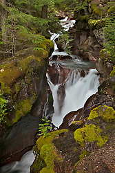 Avalanche Creek Waterfall, Glacier National Park