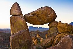 Balanced Rock, Grapevine Hills of Big Bend National Park, Texas, USA.