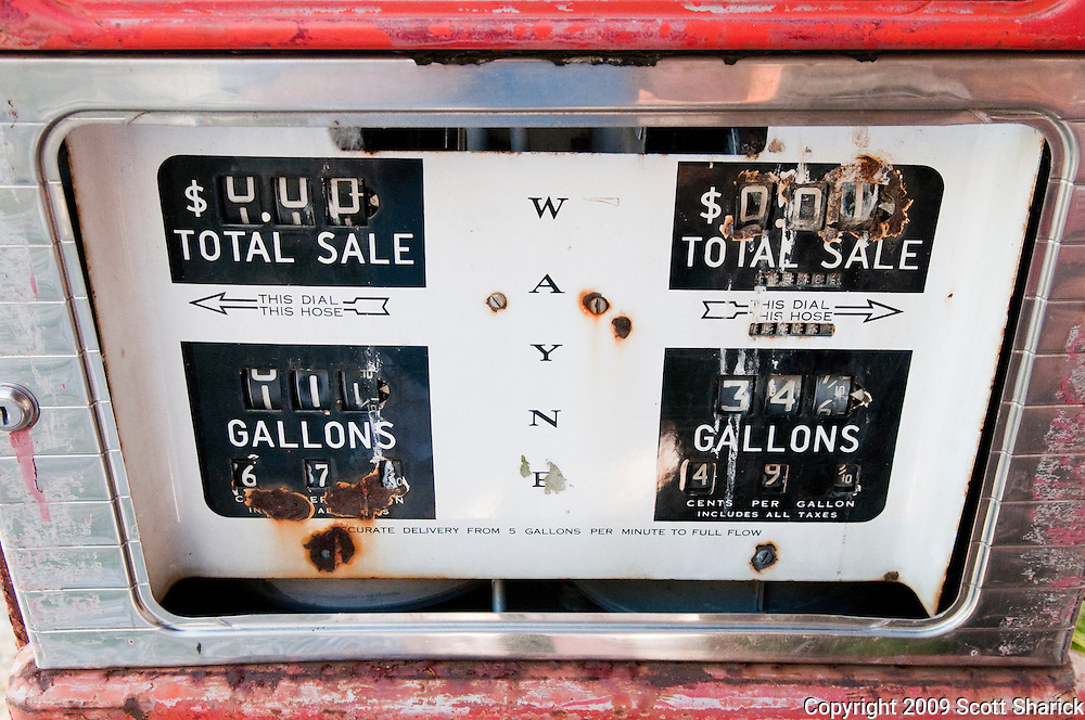 An old gas pump no longer used along Route 66. Missoula Photographer