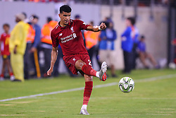 July 25, 2018 - East Rutherford, NJ, U.S. - EAST RUTHERFORD, NJ - JULY 25:   Liverpool forward Dominic Solanke (29) during the first half of the International Champions Cup Soccer game between Liverpool and Manchester City on July 25, 2018 at Met Life Stadium in East Rutherford, NJ.  (Photo by Rich Graessle/Icon Sportswire) (Credit Image: © Rich Graessle/Icon SMI via ZUMA Press)