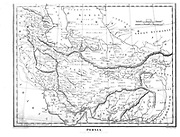 19th century map of Persia [Iran] Copperplate engraving From the Encyclopaedia Londinensis or, Universal dictionary of arts, sciences, and literature; Volume XIX;  Edited by Wilkes, John. Published in London in 1823