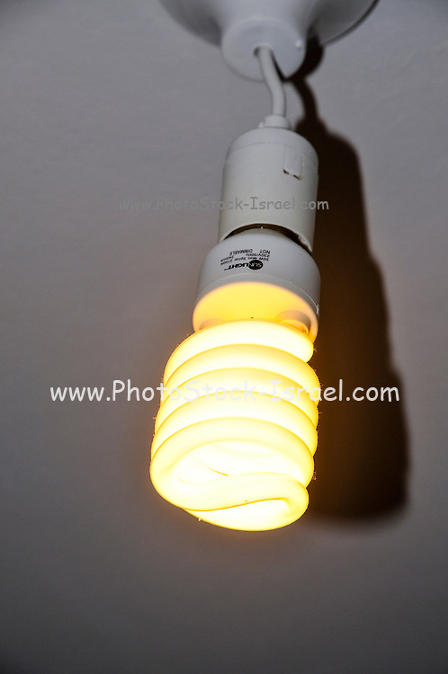 Lit energy saving bulb