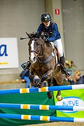 Moortgat Marie, BEL, Mirellahes<br /> Nationaal Indoor Kampioenschap Pony's LRV <br /> Oud Heverlee 2019<br /> © Hippo Foto - Dirk Caremans<br /> 09/03/2019