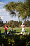 Golfers At Mile Square Golf Course In Fountain Valley California
