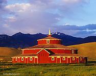 Historic Round Barn near Twin Bridges, Montana, USA