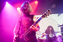 © Licensed to London News Pictures. 12/04/2014. Tilburg, Netherlands.   Hark performing live at Roadburn Festival.  In this picture - Jimbob Isaac (left), Simon Bonwick (right).  Roadburn is an annual heavy rock/metal festival held in Tilburg, Netherlands.  Hark are a welsh heavy rock band composed of members Jimbob Isaac (guitar/vocals),Nikolai Ribnikov (Bass)<br /> Simon Bonwick (Drums).  Hark launched their debut album Crystalline on 10 April 2014, recorded in the Monnow Valley Studios where Oasis and Led Zepellin also recorded their debut albums.  Photo credit : Richard Isaac/LNP