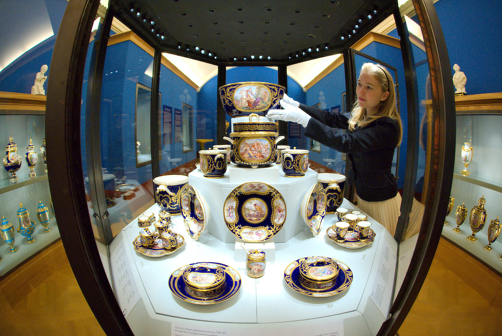 LONDON, ENGLAND - MAY 22:  Part of the most expensive  dinner and dessert service  (1783-1793) that was created at Sevres on May 22, 2009 in London, England. The service is part of the Sevres Exhibition that will open on May 23rd at Buckingham palace Galleries  (Photo by Marco Secchi/Getty Images)