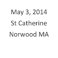 St Catherine Norwood MA First Communion May 3, 2014