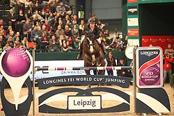 Lindelow Douglas, (SWE), Udermus<br /> Longines FEI World Cup<br /> CSIO Leipzig 2016<br /> © Hippo Foto - Stefan Lafrentz