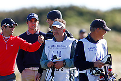 04.10.2012, Old Course, St. Andrews, SCO, European Golf Tour, Alfred Dunhill Links Championship, im Bild Paul Casey (ENG) and Michael phelps // during the European Golf Tour, Alfred Dunhill Links Championship at the Old Course, St. Andrews, Scotland on 2012/10/04. EXPA Pictures © 2012, PhotoCredit: EXPA/ Mitchell Gunn