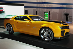 11 February 2009:  2010 CHEVROLET CAMARO: Chevrolet will display the production 2010 Camaro during the 101st annual Chicago Auto Show, with sales beginning in the first quarter of '09. The new Camaro is a heritage-inspired sports car for the 21st century, combining great looks and performance; advanced technology and surprising efficiency - including 26-mpg estimated highway fuel economy. Built on GM's new, global rear-wheel-drive architecture, the Camaro is offered in the 3.6-liter V-6-powered LS and LT models, as well as the 6.2-liter V-8-powered SS. All models and powertrain combinations include fuel-saving six-speed automatic or six-speed manual transmissions. Camaro offers two suspensions. LS and LT models receive an FE2 (sport) suspension, while the SS receives the FE3 (performance) suspension, including a lower ride height..The Chicago Auto Show is a charity event of the Chicago Automobile Trade Association (CATA) and is held annually at McCormick Place in Chicago Illinois.