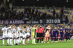 Players of both teams greeting the fans during football match between NK Maribor and NS Mura in 9th Round of Prva liga Telemach 2021/22, on 19 of September, 2021 in Ljudski Vrt, Murska Sobota, Slovenia. Photo by Blaž Weindorfer / Sportida