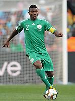 Fotball<br /> VM 2010<br /> 12.06.2010<br /> Argentina v Nigeria<br /> Foto: Witters/Digitalsport<br /> NORWAY ONLY<br /> <br /> Joseph Yobo (Nigeria)<br /> Fussball WM 2010 in Suedafrika, Vorrunde, Argentinien - Nigeria