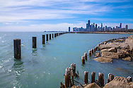 Lake Michigan On A Beautiful Day In Chicago Illinois, USA
