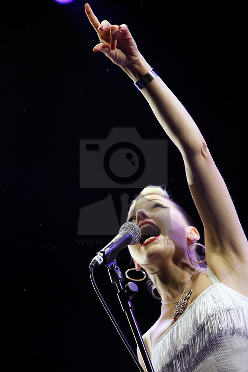 Imelda May pictured playing the MAIN STAGE at electric Picnic 2010. Pic Andres Poveda