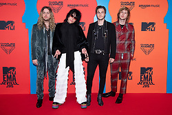 'The Struts' Adam Slack, Luke Spiller, Jed Elliott and Gethin Davies attend the MTV EMAs 2019 at FIBES Conference and Exhibition Centre on November 03, 2019 in Seville, Spain. Photo by David Niviere/ABACAPRESS.COM