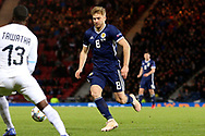 Scotland midfielder Stuart Armstrong (8) (Southampton)   during the UEFA Nations League match between Scotland and Israel at Hampden Park, Glasgow, United Kingdom on 20 November 2018.