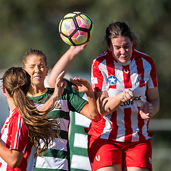 BRISBANE, AUSTRALIA - JUNE 24:  during the round 12 PlayStation 4 National Premier Leagues Queensland Women's match between Olympic FC and Western Pride on June 24, 2017 in Brisbane, Australia. (Photo by Patrick Leigh)