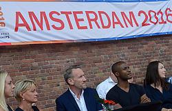 """06-07-2015 NED: Presentatie EK Atletiek """"One year to go"""", Amsterdam<br /> Kick off  EK Atletiek 2016 in het Olympische stadion Amsterdam. Over 1 jaar zal het EK Atletiek plaats vinden / Susan Kuijken, Ellen van Langen, Ad Roskam en Gregory Sedoc"""