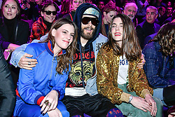 Jared Leto and Charlotte Casiraghi on the front row during the Gucci catwalk show during Milan Fashion Week 2017