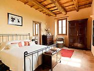 Villa San Donato in Italy, on the border between Tuscany and Lazio. The master bedroom.