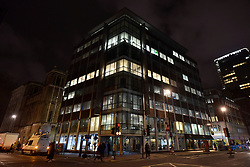 © Licensed to London News Pictures. 23/03/2018. LONDON, UK.  Exterior view.  Inside the building UK Information Commissioner Office (ICO) staff are in the offices of Cambridge Analytica in central London.  A court warrant to search the premises for evidence of any breaches of the Data Protection Act has just been obtained.  Cambridge Analytica, a UK based data consulting firm, has been accused of using the personal data of 50m Facebook users to influence the 2016 US presidential election.  Photo credit: Stephen Chung/LNP