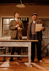HARVEST <br /> Royal Court Theatre<br /> Press photocall September 14th, 2005 <br /> <br /> l to r <br /> Dickon Tyrrell<br /> Paul Popplewell
