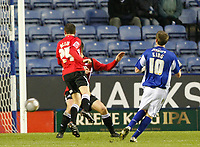 Photo: Steve Bond/Richard Lane Photography. Leicester City v Swansea City. FA Cup Third Round. 02/01/2010. Andy King fires home