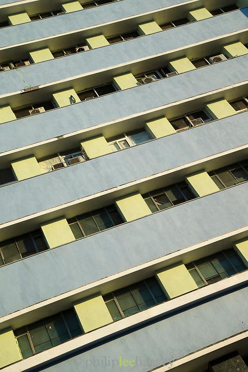 Close up of balconies on building, Havana, Cuba