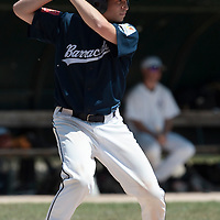 23 May 2010: Andy Pitcher of Montpellier is seen at bat during game 1/week 7 of the French Elite season match won 19-9 by Montpellier over the PUC, at the Pershing Stadium in Vincennes, near Paris, France.