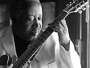 Blues guitarist Albert White plays a few licks inside of a Tavern in Atlanta Georgia.