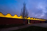 28/Enero/2021 Madrid.<br /> Pabellón de Exposiciones del Ayuntamiento de Madrid en la Casa de Campo iluminado por AOM.<br /> <br /> ©JOAN COSTA