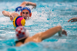 Jorn Muller of the Netherlands in action against Croatia during the Olympic qualifying tournament. The Dutch water polo players are on the hunt for a starting ticket for the Olympic Games on February 15, 2021 in Rotterdam