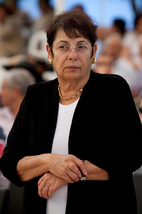 Israeli Supreme Court justice Miriam Naor attends a memorial service for Ze'ev (Vladimir) Jabotinsky, founder of the Revisionist Movement and Betar who died 71 years ago, at the Mount Herzl Military Cemetery in Jerusalem, on July 31, 2011.