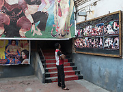 Around the old Pakistan Talkies movie theatre in the Walled city of Lahore.